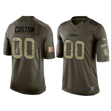 Green Bay Packers Olive Camo Salute to Service Veterans Day Customized Jersey