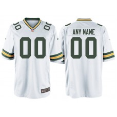 Green Bay Packers White Game Customized Jersey