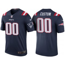 New England Patriots Navy Color Rush Legend Customized Jersey