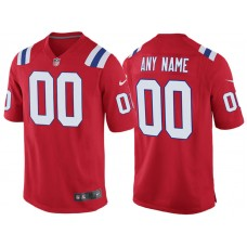 New England Patriots Red Throwback Game Customized Jersey
