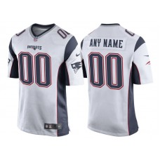 New England Patriots White Game Customized Jersey