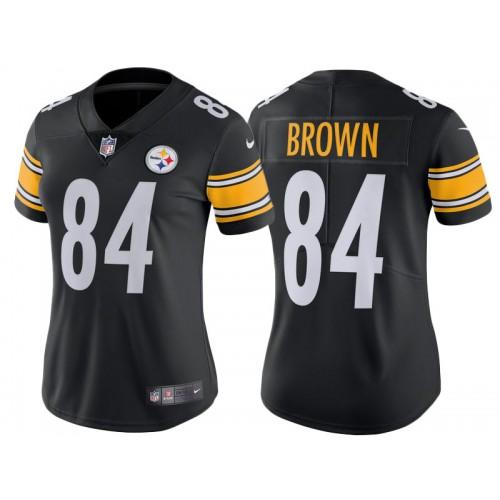 98c688c13 2017 Pittsburgh Steelers  84 Antonio Brown Black Vapor Untouchable Limited  Jersey