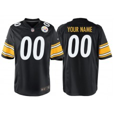 Pittsburgh Steelers Black Game Customized Jersey