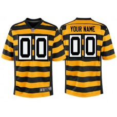 Pittsburgh Steelers Gold Alternate Game Customized Jersey