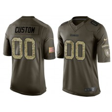 Pittsburgh Steelers Olive Camo Salute to Service Veterans Day Customized Jersey