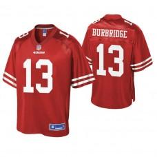 San Francisco 49ers #13 Aaron Burbridge Scarlet Pro Line Team Player Jersey