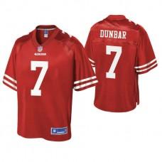 San Francisco 49ers #7 Steven Dunbar Scarlet Pro Line Team Player Jersey