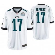 Philadelphia Eagles #17 Alshon Jeffery White Super Bowl LII Champions Game Jersey
