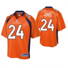 Denver Broncos #24 Adam Jones Orange Pro Line Jersey