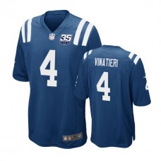 Indianapolis Colts #4 Adam Vinatieri 35th Anniversary Game Royal Jersey