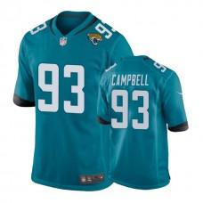 Jacksonville Jaguars #93 Calais Campbell Teal Game Jersey
