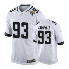 Jacksonville Jaguars #93 Calais Campbell White New 2018 Game Jersey