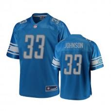 Detroit Lions #33 Kerryon Johnson Blue 2018 Draft Player Jersey