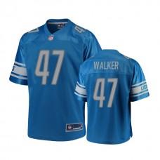 Detroit Lions #47 Tracy Walker Blue 2018 Draft Player Jersey