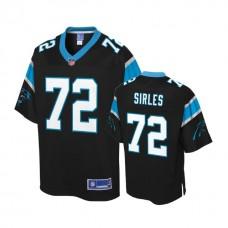 Carolina Panthers #72 Jeremiah Sirles Black Pro Line Player Jersey