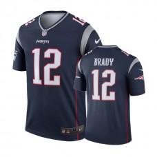 New England Patriots #12 Tom Brady Navy Legend Jersey