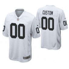 Oakland Raiders White Game Customized Jersey