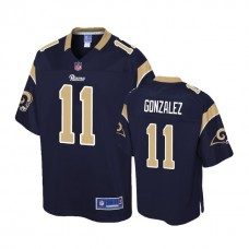 Los Angeles Rams #11 LaQuvionte Gonzalez Navy Pro Line Player Jersey