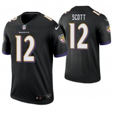 Baltimore Ravens #12 Jaleel Scott Black Legend Jersey