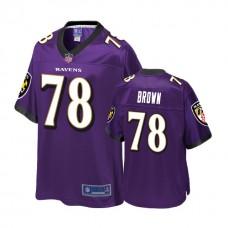 Baltimore Ravens #78 Orlando Brown Purple 2018 Draft Player Jersey