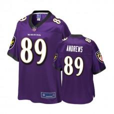 Baltimore Ravens #89 Mark Andrews Purple 2018 Draft Player Jersey