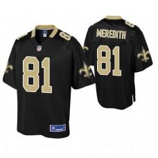 New Orleans Saints #81 Cameron Meredith Black Pro Line Player Jersey