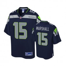 Seattle Seahawks #15 Brandon Marshall Navy Pro Line Player Jersey