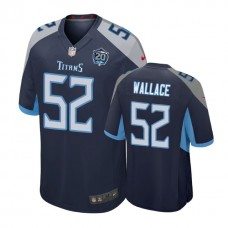 Tennessee Titans #52 Aaron Wallace Jr. 20th Anniversary Game Navy Jersey