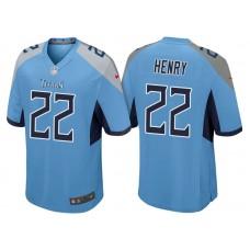 Tennessee Titans #22 Derrick Henry Light Blue 2018 Game Jersey
