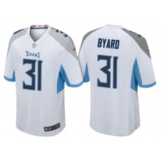 Tennessee Titans #31 Kevin Byard White 2018 Game Jersey