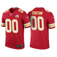 Kansas City Chiefs Red Color Rush Legend Customized Jersey