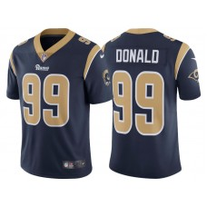 Los Angeles Rams #99 Aaron Donald Navy Vapor Untouchable Limited Player Jersey