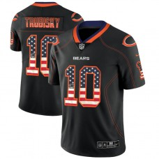 Chicago Bears #10 Mitchell Trubisky Black 2018 USA Flag Fashion Color Rush Limited Jersey