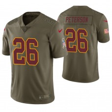 Washington Redskins #26 Adrian Peterson Olive Salute to Service Limited Jersey