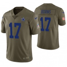 Dallas Cowboys #17 Allen Hurns Olive Salute to Service Limited Jersey