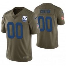 Indianapolis Colts Olive 35th Anniversary Salute to Service Limited Customized Jersey