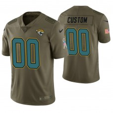 Jacksonville Jaguars Olive Salute to Service Limited Customized Jersey