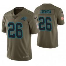 Carolina Panthers #26 Donte Jackson Olive Salute to Service Limited Jersey