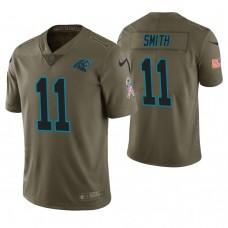 Carolina Panthers #11 Torrey Smith Olive Salute to Service Limited Jersey