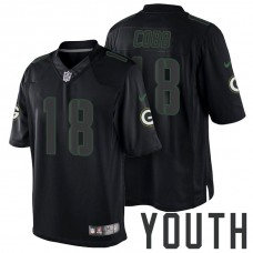 Youth Green Bay Packers #18 Randall Cobb Black Impact Limited Jersey