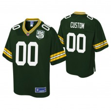 Youth Green Bay Packers # 100th Anniversary Pro Line Player Green Customized Jersey