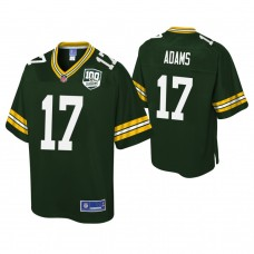 Youth Green Bay Packers #17 Davante Adams 100th Anniversary Pro Line Player Green Jersey