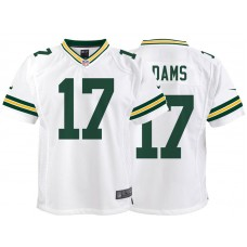 Youth Green Bay Packers #17 Davante Adams White Game Jersey