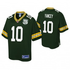 Youth Green Bay Packers #10 DeAngelo Yancey 100th Anniversary Pro Line Player Green Jersey
