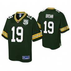 Youth Green Bay Packers #19 Equanimeous St. Brown 100th Anniversary Pro Line Player Green Jersey