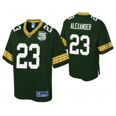 Youth Green Bay Packers #23 Jaire Alexander 100th Anniversary Pro Line Player Green Jersey
