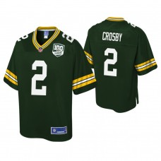Youth Green Bay Packers #2 Mason Crosby 100th Anniversary Pro Line Player Green Jersey