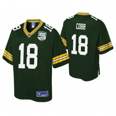 Youth Green Bay Packers #18 Randall Cobb 100th Anniversary Pro Line Player Green Jersey