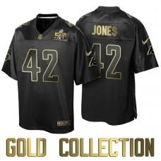 Carolina Panthers #42 Colin Jones Super Bowl 50th Black Gold Collection Jersey