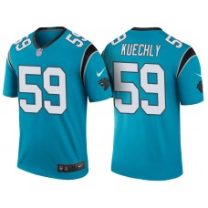 Carolina Panthers #59 Luke Kuechly Blue Color Rush Legend Jersey
